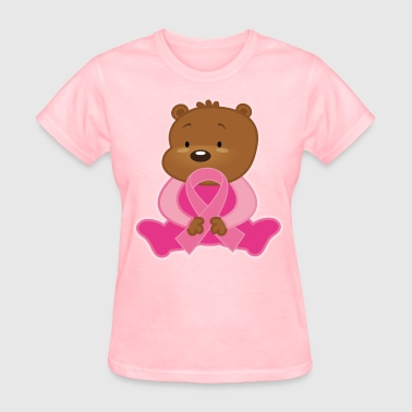 Breast Cancer Teddy Bear - Women's T-Shirt