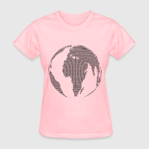World map globe dots by martmel us spreadshirt womens t shirt gumiabroncs Images