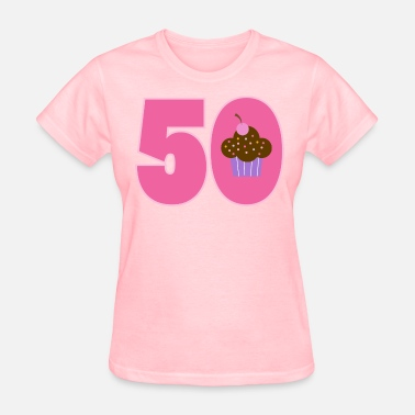 50th Birthday 50th Birthday Cupcake 50 Year Old - Women's T-Shirt