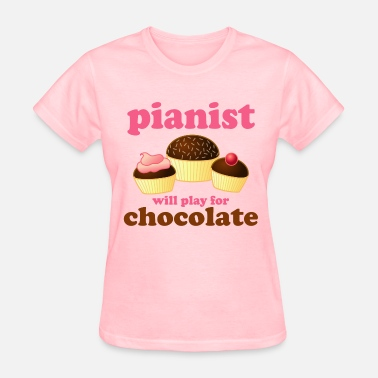 Chocolate Quote Piano Chocolate Music Quote - Women's T-Shirt