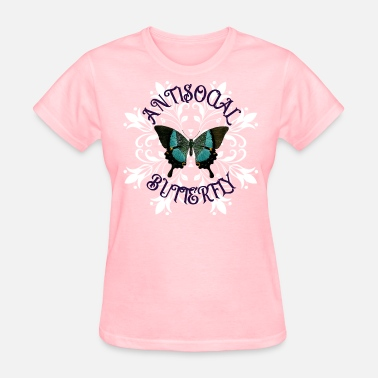 Quiet Clubbing Antisocial Butterfly - Women's T-Shirt