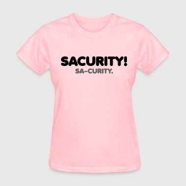 GIRLS Bon Qui Qui Security Sacurity! Tee Black - Women's T-Shirt