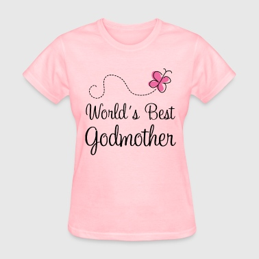 Worlds Best Godmother butterfly - Women's T-Shirt
