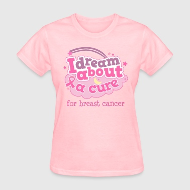 Breast Cancer Cure Pink Ribbon - Women's T-Shirt