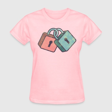Lock Girl love locks - Women's T-Shirt