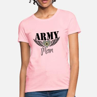 Military Army Mom Winged Heart Design - Women's T-Shirt