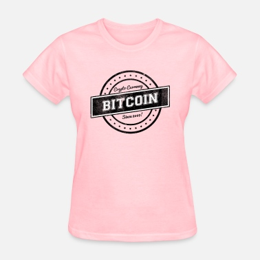 Subtle Pride Bitcoin Label Logo Design - Women's T-Shirt