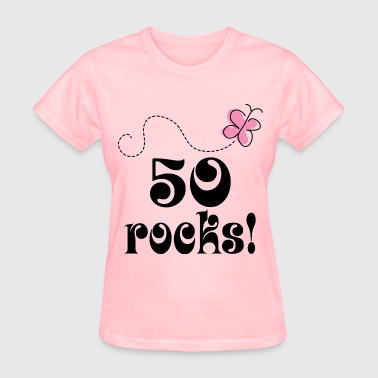 50th Birthday 50 Rocks - Women's T-Shirt