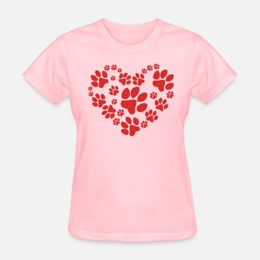 Paws Heart Paws Heart - Women's T-Shirt