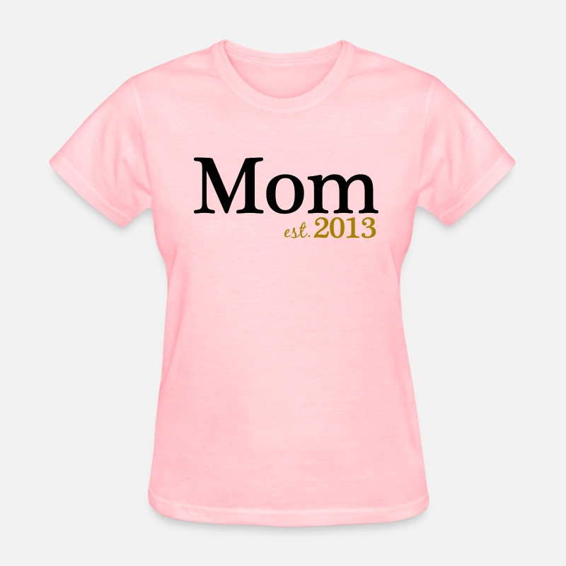 Mummy T-Shirts - New Mom Est 2013 - Women's T-Shirt pink