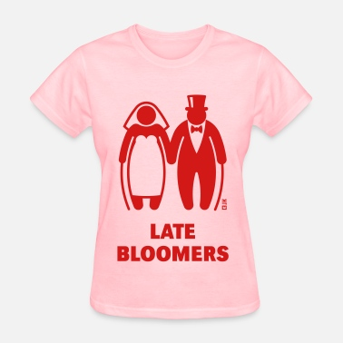 Wedding Couple Late Bloomers (Mature Couple / Wedding) - Women's T-Shirt