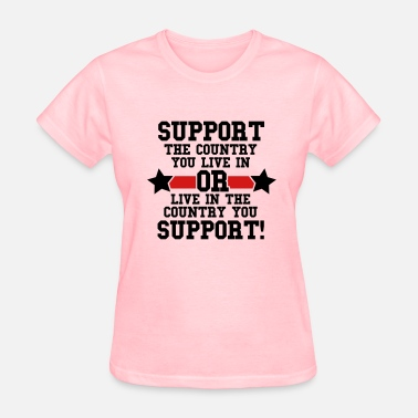 Current Issues News Support Your Country - Women's T-Shirt