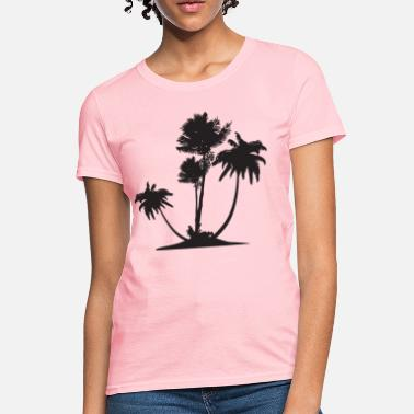 Coconut Tree Palm Trees HD Design - Women's T-Shirt