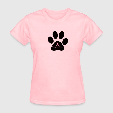 Breast Cancer Awareness Button - Women's T-Shirt