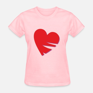Neckline Heart with missing parts, incised shape - Women's T-Shirt