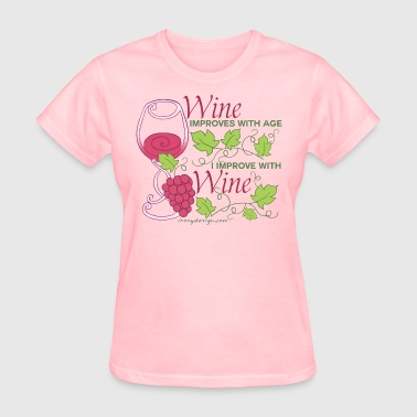 Wine Improves With Age - Women's T-Shirt