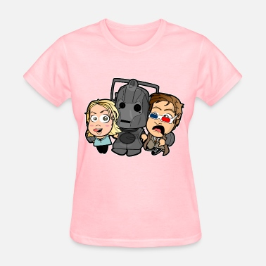 Doctor Who And Rose Chibi Doctor Who - Cyberman - Women's T-Shirt