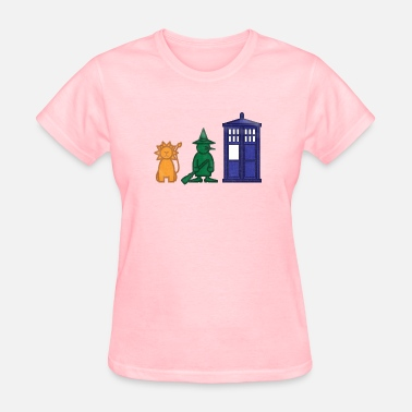 The Angels Have The Phone Box A lion, a witch, and a... phone box? - Women's T-Shirt