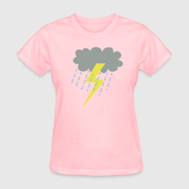 raincloud clouds storm with lightning - Women's T-Shirt