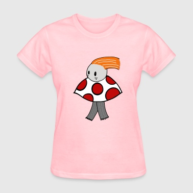 Fun Guy Mushroom Mushroom Guy Taking A Quick Walk - Women's T-Shirt
