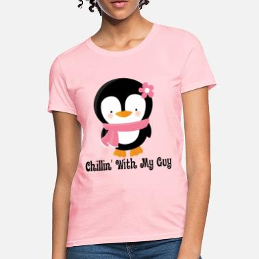 0c64b80647 Couples Penguin Girl (Chillin With My Guy) - Women's T