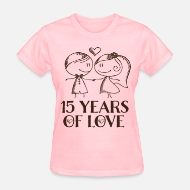 15th Wedding Anniversary 15th Anniversary Love Couple - Women's T-Shirt