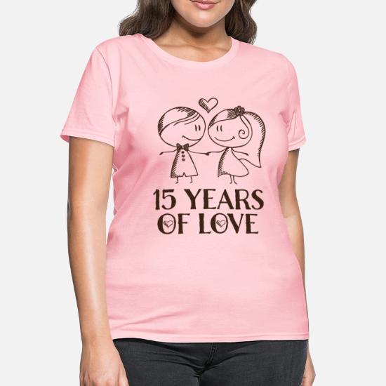 a91c32c500f 15th Anniversary Love Couple Women's T-Shirt | Spreadshirt