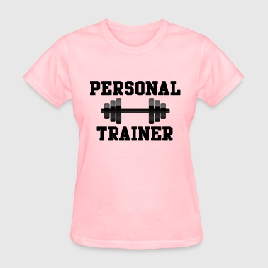 Personal Trainer, Black Weights Dumbell Fitness - Women's T-Shirt