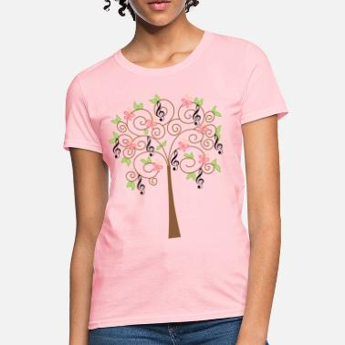 Clef Music Treble Clef Tree Musician - Women's T-Shirt