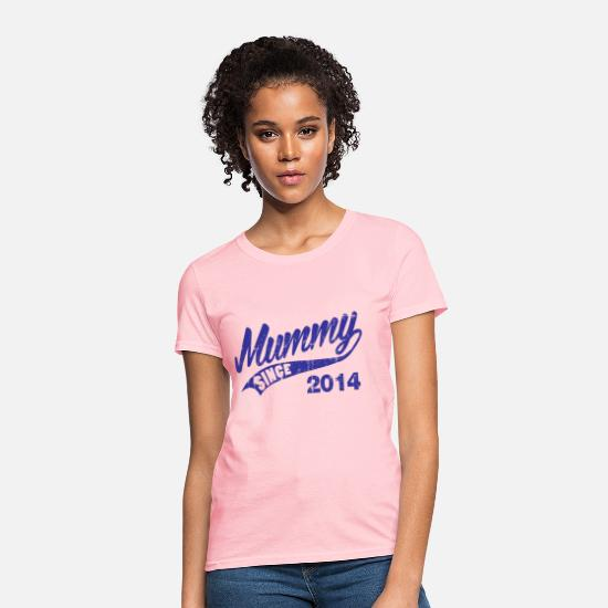 Mummy T-Shirts - mummy_since_2014 - Women's T-Shirt pink