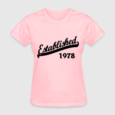 Established 1978 - Women's T-Shirt