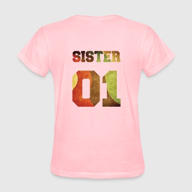 Sister 01, Sisters, Siblings, Family, Gifideas - Women's T-Shirt