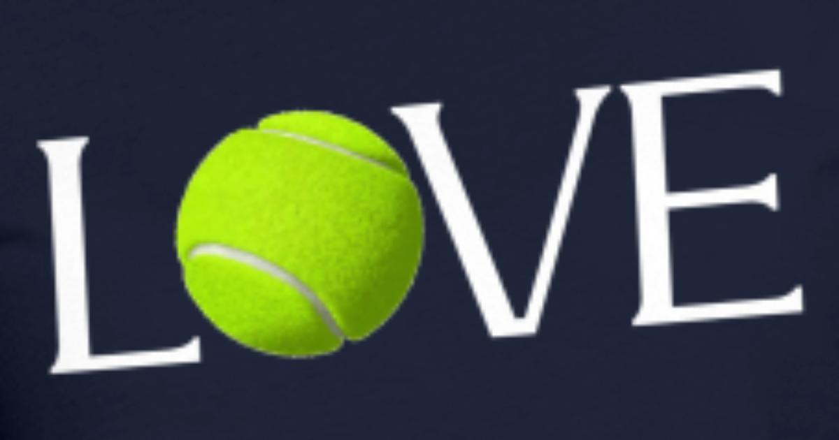 Love Nice Tennis Ball Design Womens T-Shirt