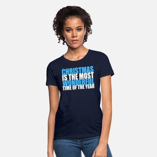Quotes T-Shirts - Cute Christmas Carol Quote - Women's T-Shirt navy