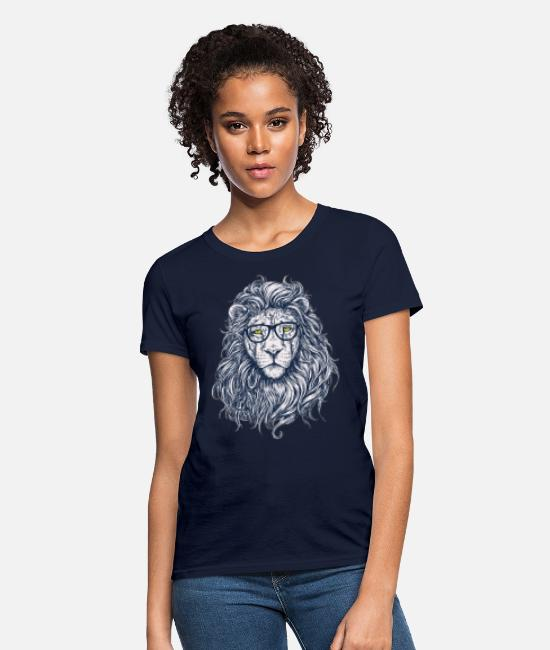 Nature T-Shirts - lion - Women's T-Shirt navy
