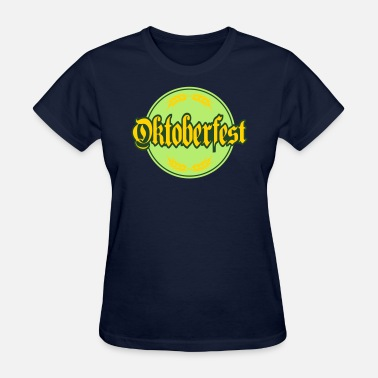 Text Circle circle round text bavaria germany german oktoberfe - Women's T-Shirt
