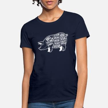 Pork Pork Cuts Filipino Food Meat Grilling Bacon Gift - Women's T-Shirt