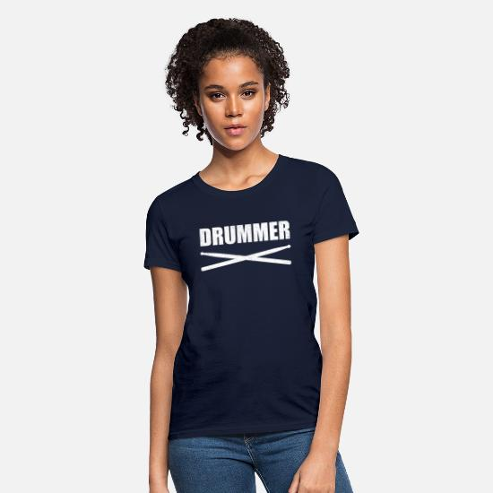Drumsticks T-Shirts - Drummer Drumsticks - Women's T-Shirt navy