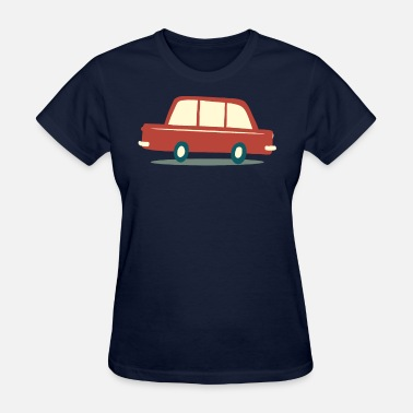 1950s Cars Vintage Retro 1950's Red Car - Women's T-Shirt
