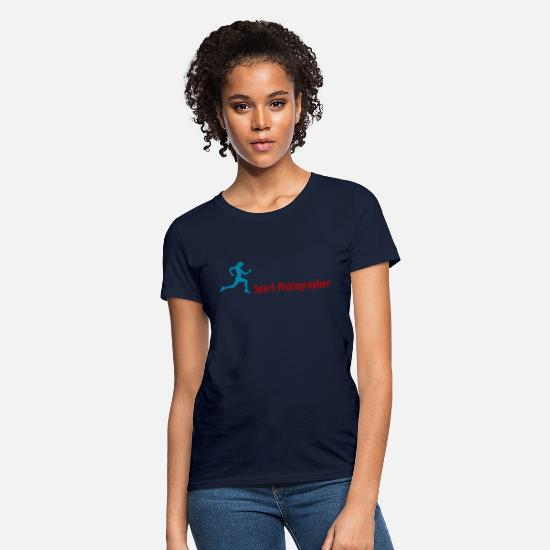 Workspace T-Shirts - Sport Photographer - Women's T-Shirt navy