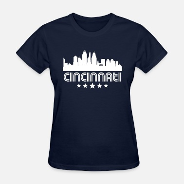 Cincinnati Skyline Retro Cincinnati Skyline - Women's T-Shirt