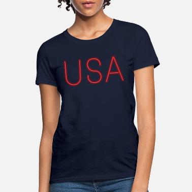 Letter Sign USA neon sign letters - Women's T-Shirt