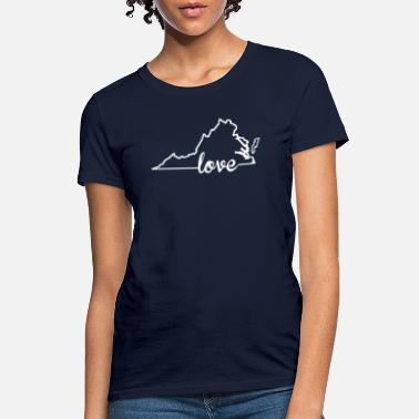Virginia Virginia Love State Outline - Women's T-Shirt