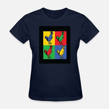 Cock Rooster chicken cock rooster animal - Women's T-Shirt