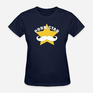 Porn Gag Porn Star with Hipster Mustache - Women's T-Shirt