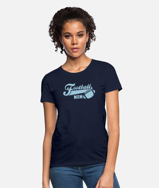Pregnancy T-Shirts - Football MOM - Women's T-Shirt navy