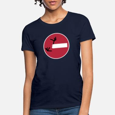 Satire Road Sign THIS IS SPARTA Satire 3c - Women's T-Shirt