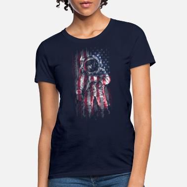 Space Astronaut Flag - Women's T-Shirt