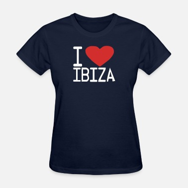 I Love Ibiza I LOVE IBIZA club party DJ music retro cool - Women's T-Shirt