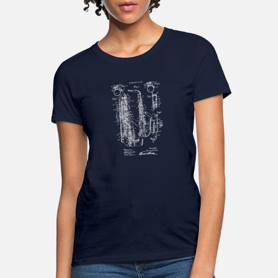d8e722ca5210e Vintage Jazz Saxophone 1915 Patent Print Women's T-Shirt | Spreadshirt